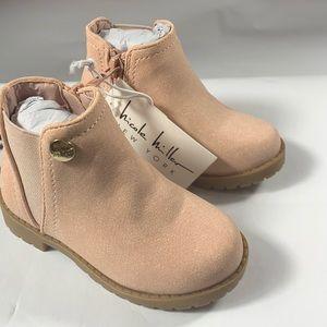 Nicole Miller Blush Faux Suede Kids Girls Boots